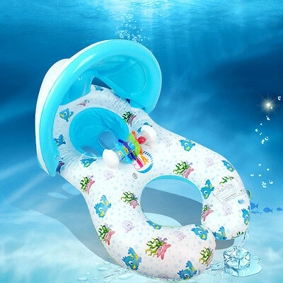 Summer Mother and Baby Water Float Circle Swim toy With Sunshade New Inflatable