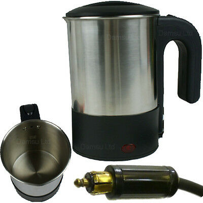 Stainless Steel Concealed Element Kettle 24v Truck Accessory For Tea Soup Coffee
