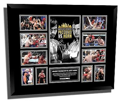 Jeff 'the Hornet' Horn Vs Pacquiao Signed Limited Editon Framed Memorabilia