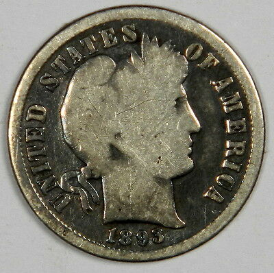 1893-S Barber Dime - Solid Good Priced Right! (Inv.1)