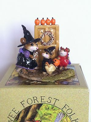 Wee Forest Folk M-280a Welcome Trick or Treaters (DP) Ltd Ed, New in WFF Box