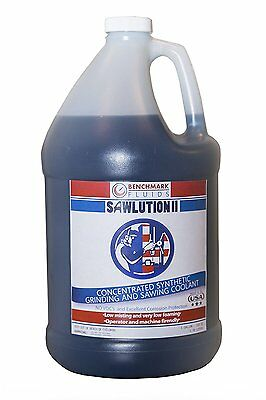 BENCHMARK FLUIDS SAWLUTION ll SYNTHETIC GRINDING & SAWING COOLANT,  ONE GAL JUG