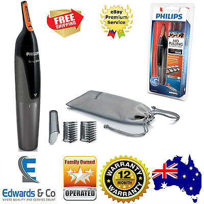 PHILIPS Electric Nose Ear Hair Trimmer Shaver Eyebrow Washable Clippers NT3160