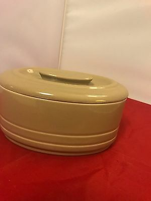 "Vintage Hall China Company Westinghouse Oval Gray/brown Dish 3.5""x7""x4"""