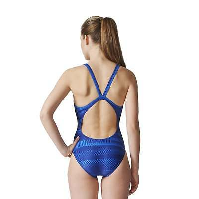 adidas Womens 3-Stripes Graphic Swimsuit
