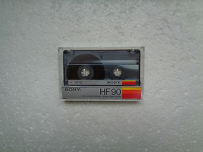 Vintage Audio Cassette SONY HF 90 * Rare Europe Version 1985 * Unsealed