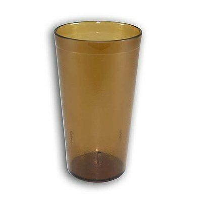 16 OZ AMBER 6PK Restaurant Break Resistant Drinking Glass Cups PLASTIC TUMBLERS