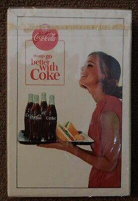 "1963 Vintage New UNOPENED Coca-Cola ""things go better with Coke"" playing cards"