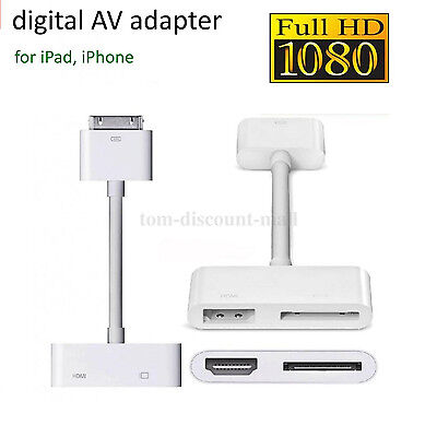 Dock to Digital AV HDMI Adaptor Cable Connector for iPad 2 3 iPhone 4 4S IOS NEW