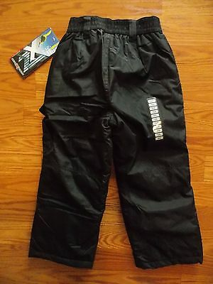 NWT Boys ZEROXPOSUR Black Lined Snow Pants Size 5/6