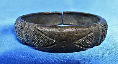 Old Historical Bronze Brass African Trade Currency Bracelet