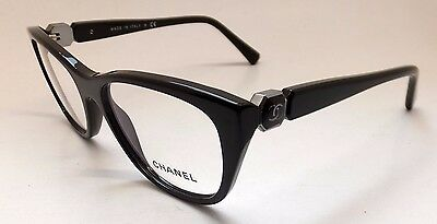 Chanel 3285 c.1460 Women Eyeglasses Brown Silver Italy Cat Eye Square BE1/21