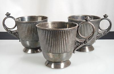 Antique Tufts Silver Plated Mugs