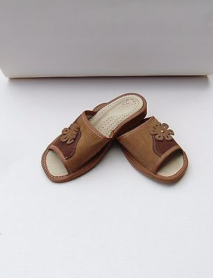 Ladies leather slippers*GENUINE EU PRODUCT*Size 3,4,5,6,7,8,