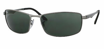 Ray-Ban RB3498 004/71 Gunmetal Frame Green Classic 61mm Lens Sunglasses