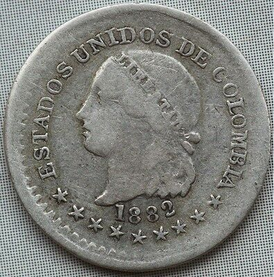 Colombia. 5 Centavos 1882. The good one.