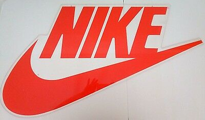 Rare NIKE Sign Vintage 1980s Store Display Hang Up Advertising Just Do It