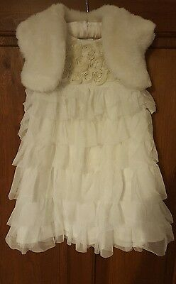 Baby girl Next Christening Gown 9-12 months & Bambini Jacket 6-9 months