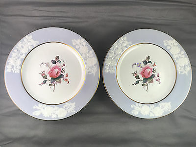 Vintage Set 2 Spode Copeland China England MARITIME ROSE BLUE R4118 Small PLATES