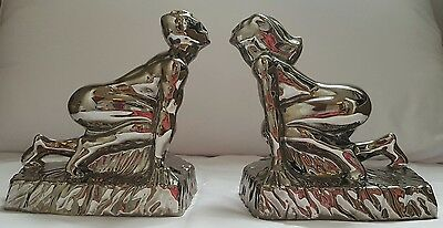 collectable rare cosmic design works pottery figurine bookends