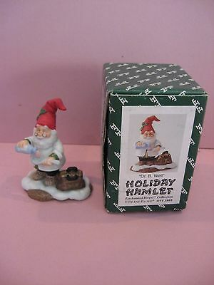 NEW/MIB 1993 Fitz Floyd DR. B. WELL Holiday Hamlet Enchanted Forest Bisque Fig