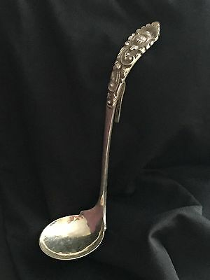 Antique Sterling Silver Ladle/Soup Spoon With Hook~DELUX & 800 Stamped