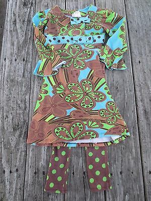Corky's Kids ~ Girls Outfit ~ Dress and Leggings ~ Size 4 and 5