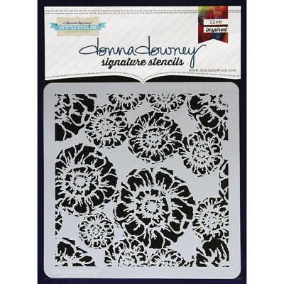 NEW Donna Downey Signature Series Stencils - Blooming Floral