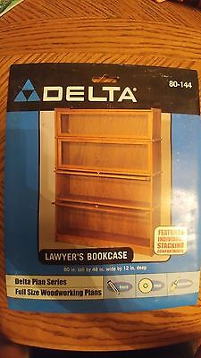 Delta Plan Series Full Size Woodworking Plans Lawyer's Bookcase 80-144