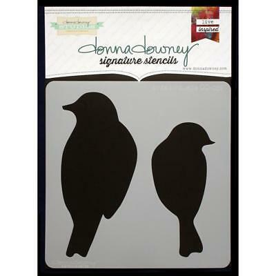 NEW Donna Downey Signature Series Stencils - Birds Silhouette