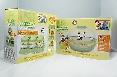 Baby Bullet Turbo Steamer  and STORAGE SYSTEM 8 Piece Set Plus BONUS To-Go Tube