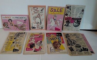 Vintage Frederick's Of Hollywood Sale Catalog Lot Of 8 1970's