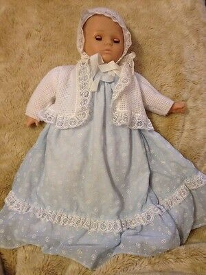 "Gotz Puppe  18"" Baby Doll Original Clothes Eyes Open/Close German"