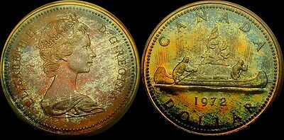 1972 $1 Voyageur (Special Strike) Canada Dollar ANACS SP 68 Monster tone coin.