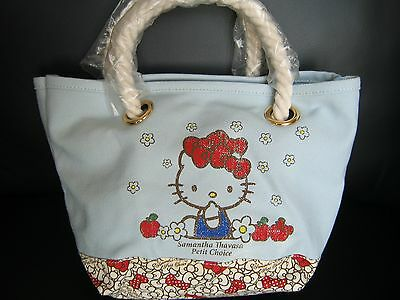 100% Auth. New Hello Kitty Samantha Thavasa Summer Tote Small Bag