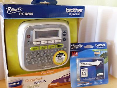 Brand New Brother PT-D200 P-touch Home Office Electronic Label Maker With Tape