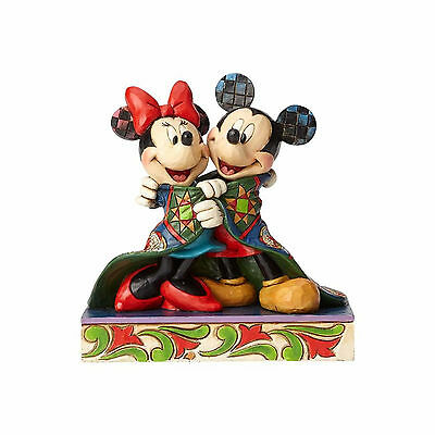Jim Shore Disney Mickey & Minnie Mouse With Quilt New 2017 4057937