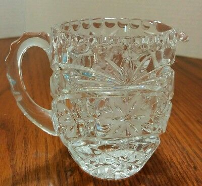 Brilliant Cut Pressed Glass  Beautifully Detailed Creamer