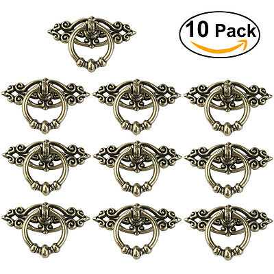10pcs New Vintage Cabinet Cupboard Dresser Door Drawer Ring Pull Handles Knobs