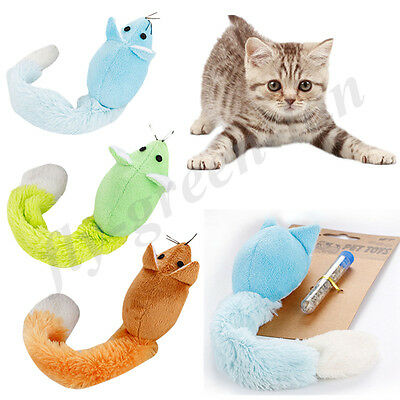 Fluffy Mate Mouse Plush Toy with Mint Tube for Pet Kitten Cat Interactive Toys