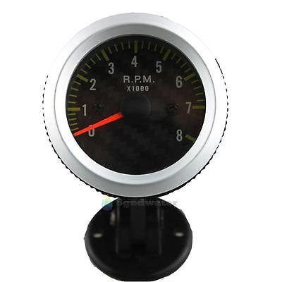 """2"""" 52mm 0~8000RPM Yellow Light Auto Car Tachometer Tach Gauge with Holder Cup"""