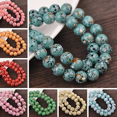 Bulk Wholesale 6/8/10/12mm Round Loose Spacer Glass Beads Jewelry Findings