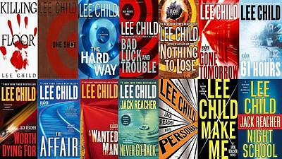"""Lot of 14 """"Jack Reacher"""" by  Lee Child Hardcover Series"""