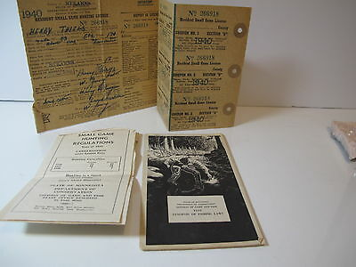 1940 small game hunting and Regulations and Fishing Laws for 1955