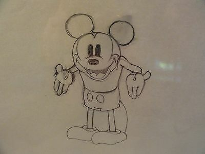 "Giantland"" Walt Disney Productions Cel  1933,original Drawing Of Mickey Mouse"