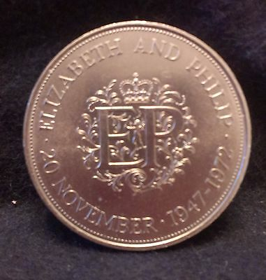 1972 Great Britain 25 pence (crown size), Royal Silver Wedding, KM-917