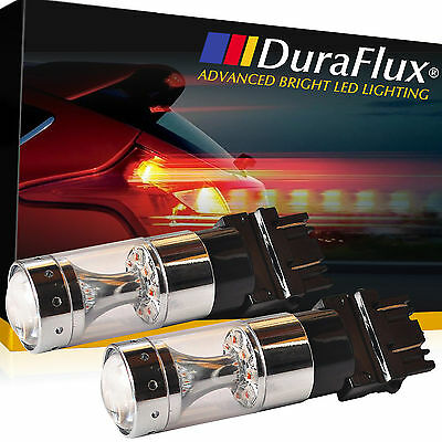 DuraFlux 3157 4157 High Power 80W CREE LED Brake Stop Tail Light Bulb 2000LM Red