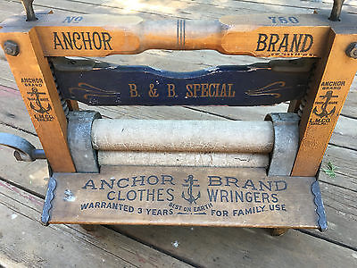 "ANTIQUE  ANCHOR BRAND ""RARE"" BOGGS&BUHL SPECIAL NO.760 Clothes Wringer"