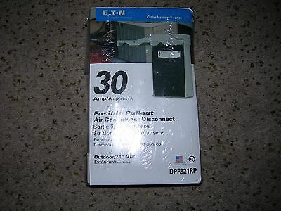 Eaton 30 Amp A/C Disconnect Fusible Pullout #DPF221RP New in Box Free Shipping!