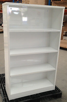 Office White Gloss Bookcase- 1500H x 900W x 320D mm